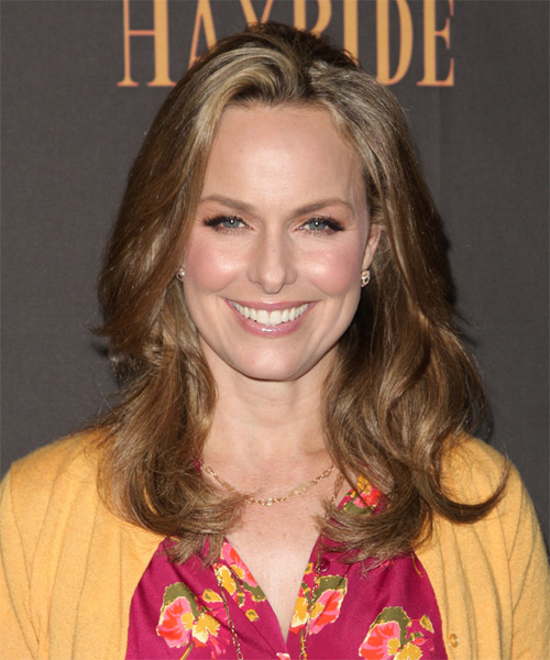 Melora Hardin Long Wavy Casual Hairstyle