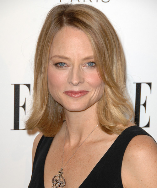 Jodie Foster Medium Straight Hairstyle - Medium Blonde (Honey)