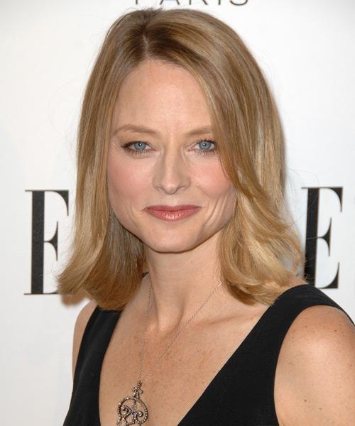 Stupendous Jodie Foster Medium Straight Formal Hairstyle Medium Blonde Short Hairstyles Gunalazisus