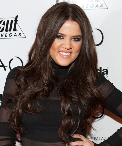 Khloe Kardashian Long Wavy Formal Hairstyle