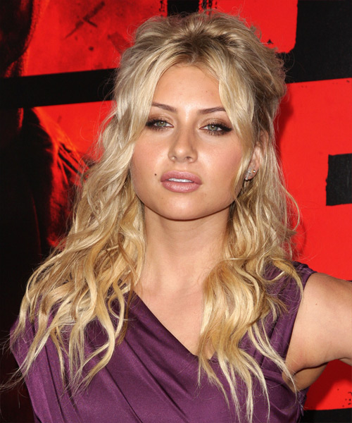 Alyson Michalka Half Up Long Curly Hairstyle