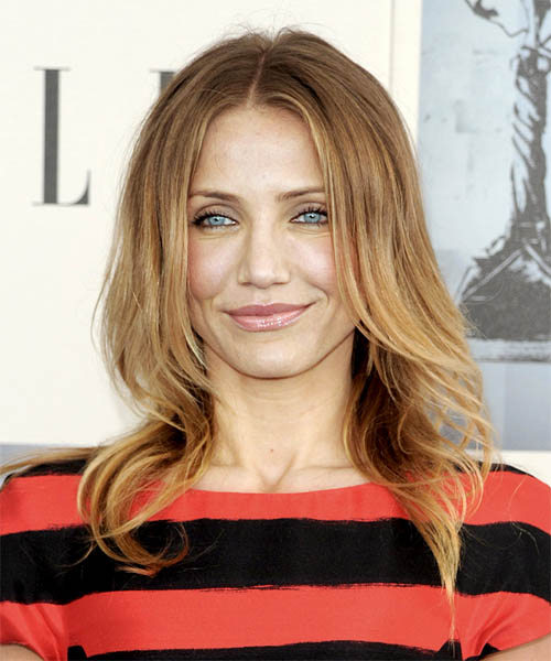 Cameron Diaz Long Straight Hairstyle with center part