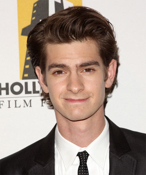 Andrew Garfield Short Straight Hairstyle - Medium Brunette (Chocolate)