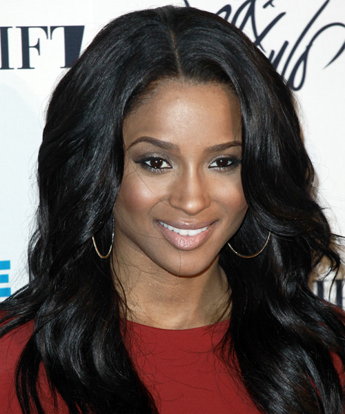 Ciara Long Wavy Casual Hairstyle