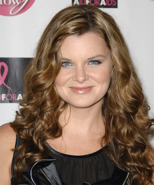 Heather Tom Long Wavy Formal Hairstyle