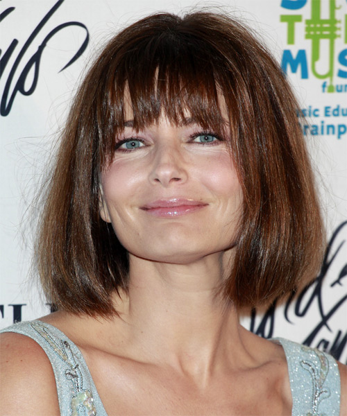 Paulina Porizkova - Casual Medium Straight Hairstyle