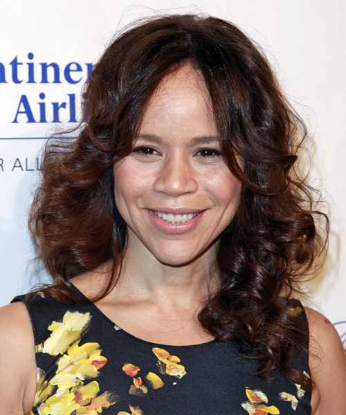 Rosie Perez Long Curly Formal Hairstyle