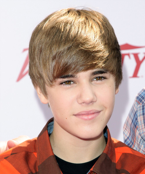 Justin Bieber Short Straight Hairstyle - Light Brunette