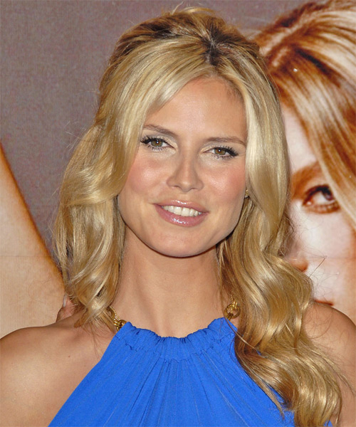 Heidi Klum - Formal Long Wavy Hairstyle