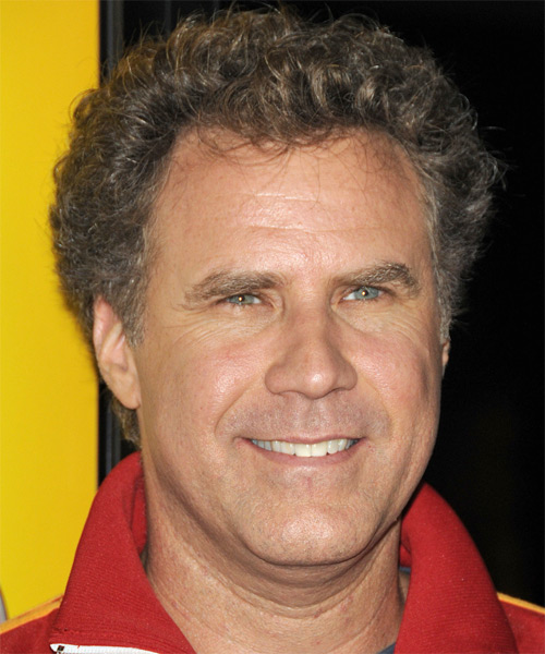 Will Ferrell Short Curly Hairstyle - Light Brunette