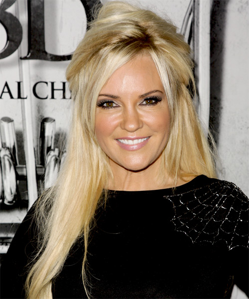 Bridget Marquardt - Casual Half Up Long Straight Hairstyle