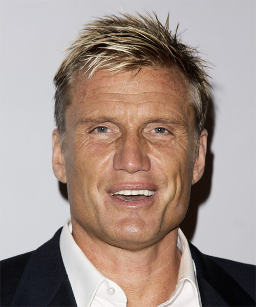 Dolph Lundgren Short Straight Hairstyle