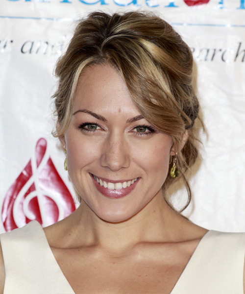 Colbie Caillat Casual Curly Updo Hairstyle