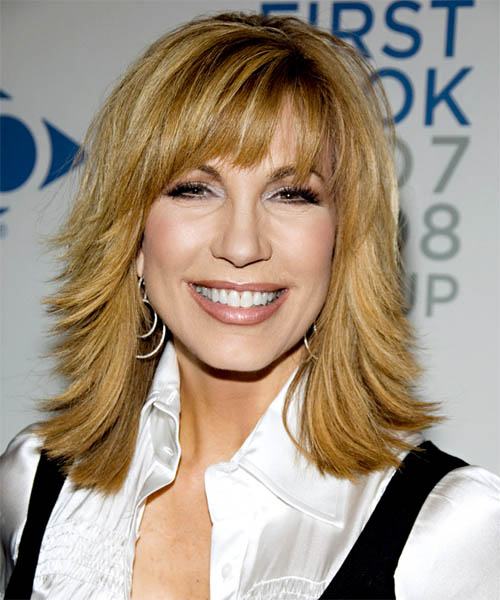 Leeza Gibbons Long Straight Hairstyle