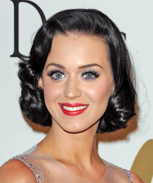 Enjoyable Katy Perry Medium Wavy Formal Hairstyle Black Thehairstyler Com Short Hairstyles For Black Women Fulllsitofus