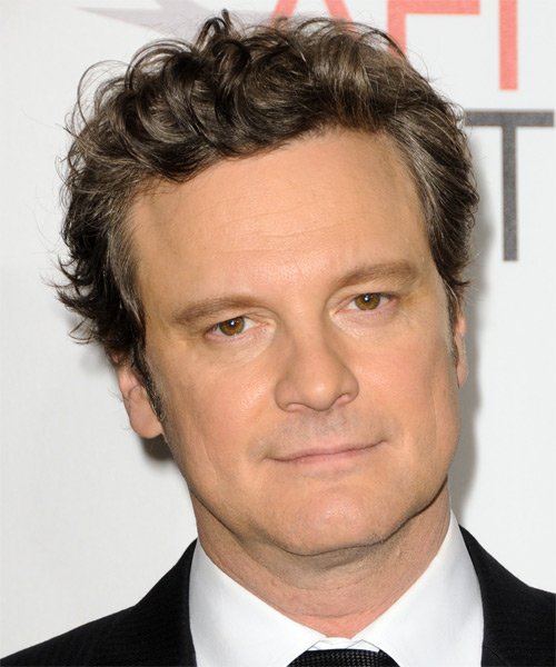 Colin Firth Short Wavy Casual Hairstyle