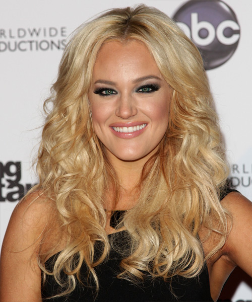 Lacey Schwimmer Long Wavy Casual Hairstyle - Medium Blonde (Golden) Hair Color