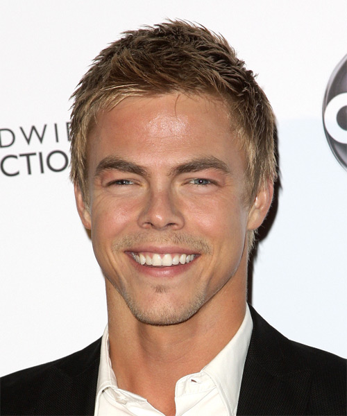 Derek Hough Short Straight Casual Hairstyle - Medium Blonde (Golden) Hair Color