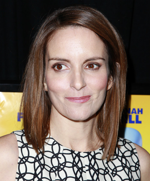 Tina Fey - Casual Medium Straight Hairstyle