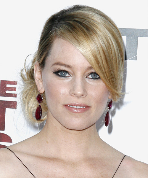 Elizabeth Banks Formal Straight Updo Hairstyle