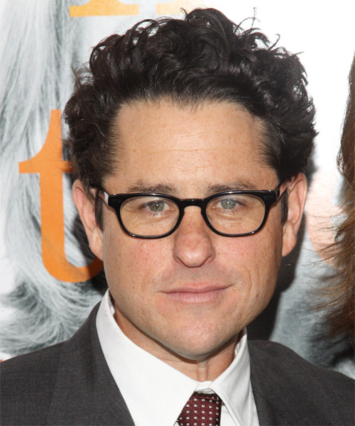 J.J. Abrams - Casual Short Curly Hairstyle
