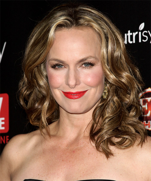 Melora Hardin Medium Wavy Formal Hairstyle