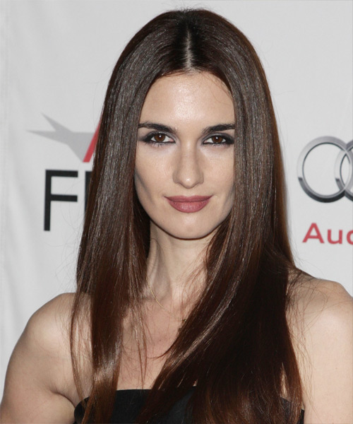 Paz Vega Long Straight Hairstyle