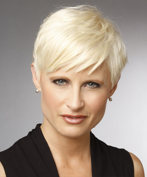 Short Straight Casual Hairstyle - Light Blonde