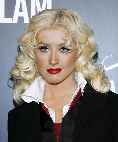 Christina Aguilera Long Wavy Formal Hairstyle
