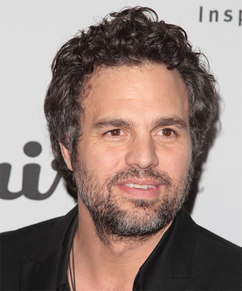 Mark Ruffalo Short Curly Casual Hairstyle