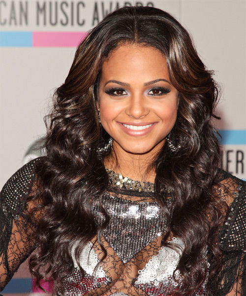 Christina Milian - Casual Long Curly Hairstyle