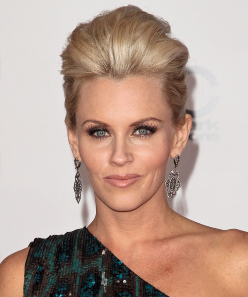 Jenny McCarthy Formal Straight Updo Hairstyle