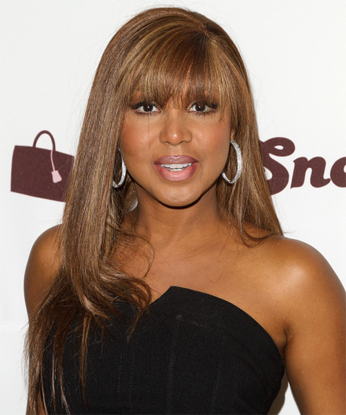 Toni Braxton Long Straight Hairstyle
