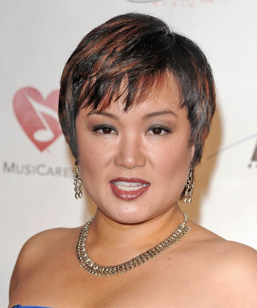 Angelin Chang Short Straight Hairstyle