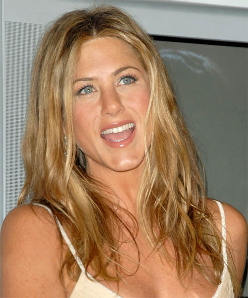 Jennifer Aniston Long Straight Hairstyle - Dark Blonde (Golden)