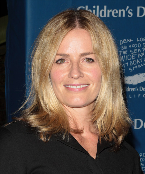 Elisabeth Shue - Casual Medium Straight Hairstyle