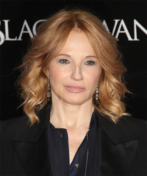 Ellen Barkin Medium Wavy Hairstyle