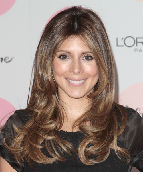 Jamie-Lynn Sigler Long Wavy Hairstyle - Medium Brunette (Chocolate)