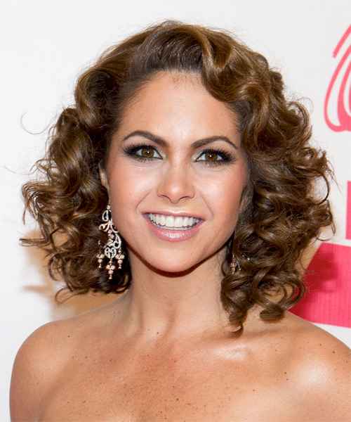 Lucero Medium Curly Hairstyle