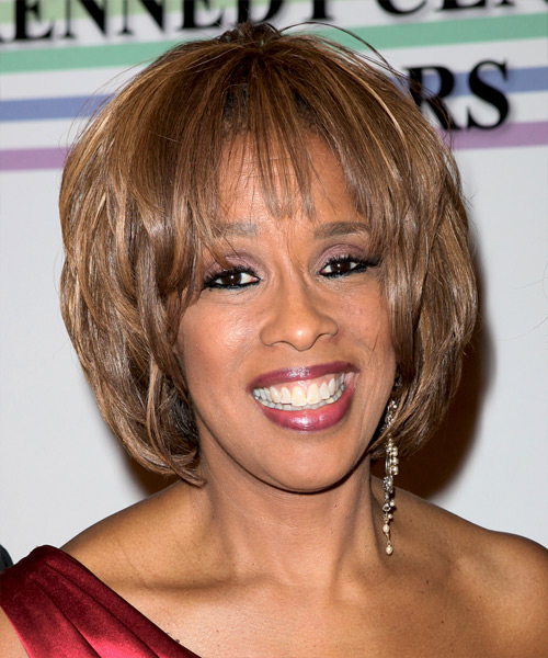 Gayle King Medium Straight Formal Hairstyle