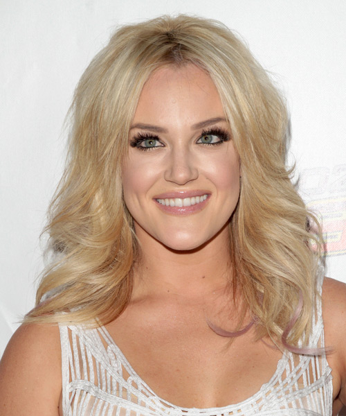 Lacey Schwimmer Long Wavy Casual Hairstyle - Light Blonde Hair Color