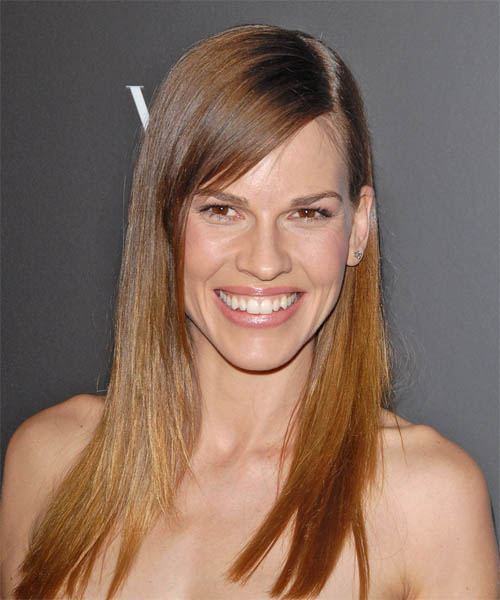 Hilary Swank Long Straight Formal Hairstyle