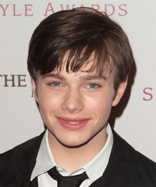 Chris Colfer Medium Straight Hairstyle