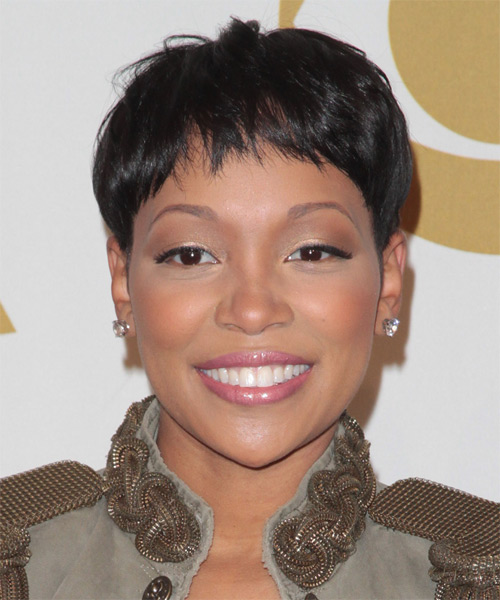 Monica Short Straight Hairstyle