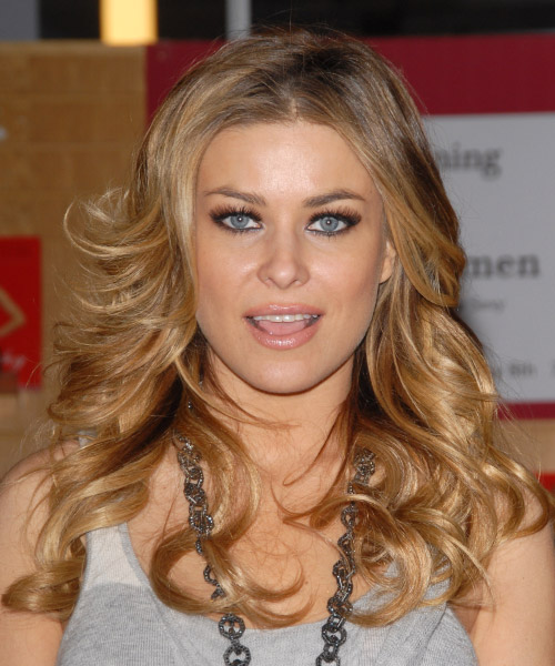 Carmen Electra Long Wavy Hairstyle - Medium Blonde (Honey)