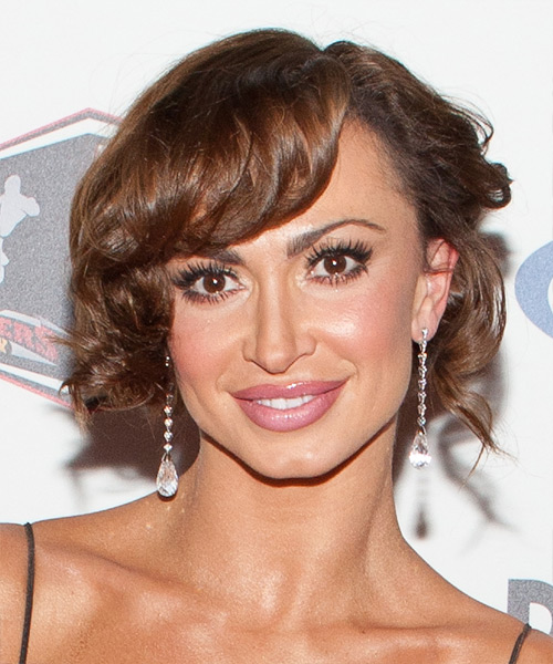 Karina Smirnoff Curly Formal Updo Hairstyle