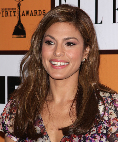 Eva Mendes Long Wavy Casual Hairstyle