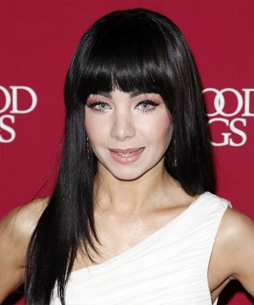 Ksenia Solo Long Straight Hairstyle