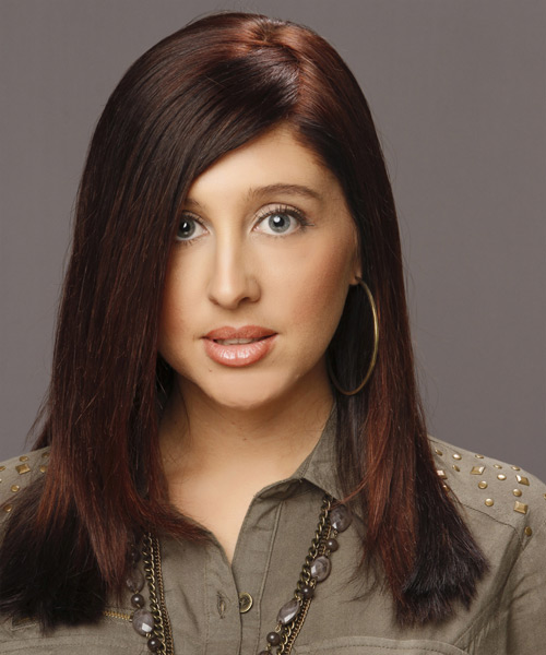 Long Straight Formal Hairstyle - Dark Brunette (Mahogany)