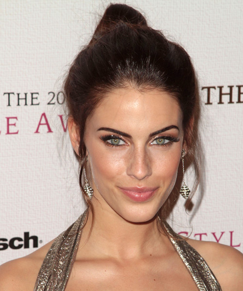 Jessica Lowndes - Casual Updo Long Straight Hairstyle